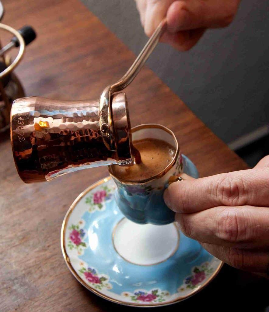 how to drink turkish coffee