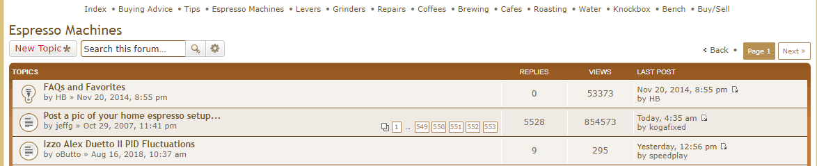 home barista is one of the biggest and best coffee forums