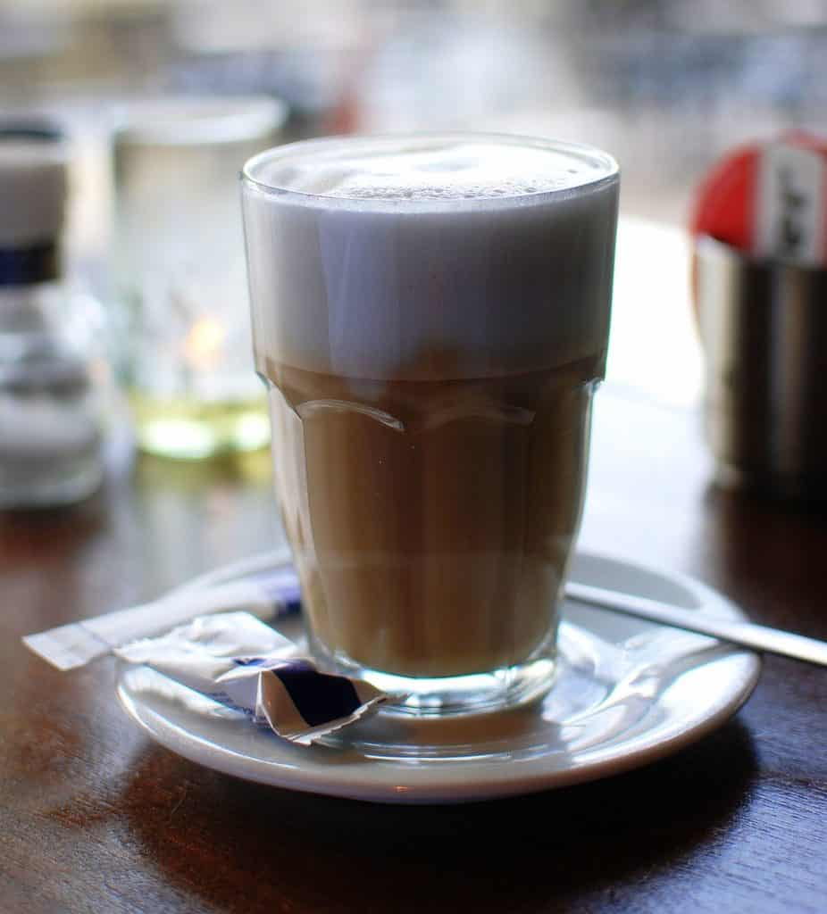 what is a latte? a drink made with milk and an espresso shot