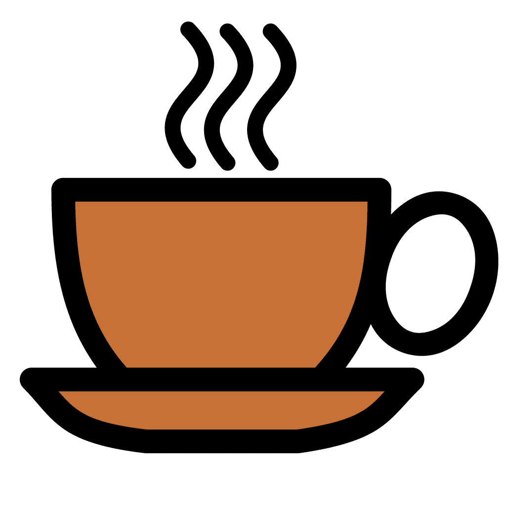 coffee cup icon in email footer