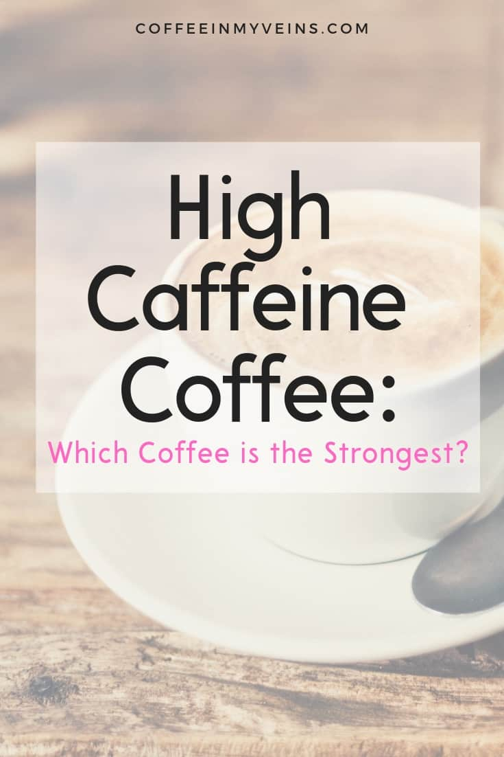 strongest coffee in the world and high caffeine coffee pin