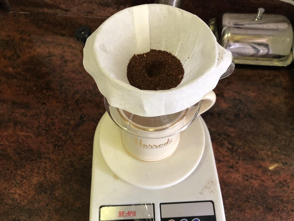 v60 coffee bed